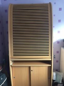 Tall Combination Cabinet - Bookcase/Cupboard/Desk Beech effect