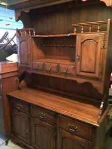 MOVING  SALE Hardrock Maple Hutch, Table with 6 Chairs Windsor Region Ontario image 1