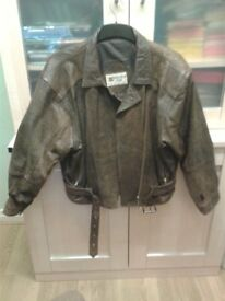 Leather Short Jacket