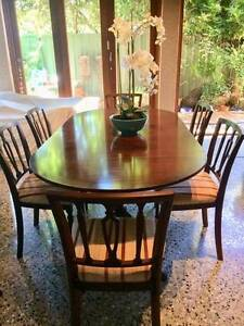 Dining suite: French style, vintage, 7 pce, mahogany Wembley Cambridge Area Preview