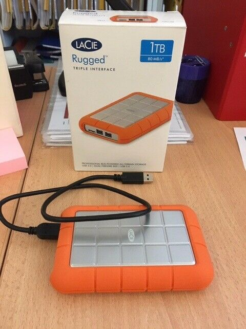 2 X Lacie Rugged Triple 1tb Firewire 800 Portable 5 External Hard Drive For Pc Or Mac In East End Glasgow Gumtree