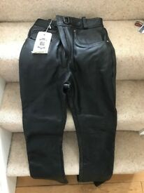 Womens Leather motorbike trousers, size 8