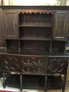 Antique CIRCA 1890s Oak Welsh Buffet