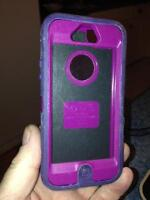purple otterbox defender case for iPhone 5 & 5s