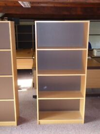 (3)Bookcase or open storage units by Lee and Plumpton