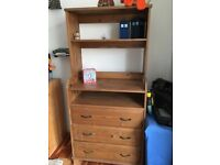 SOLID PINE DRAWER/CHANGING TABLE UNIT