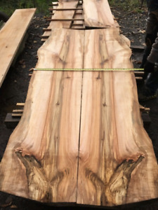 Live Edge Solid Maple Slabs. Raw, Finished and Custom orders