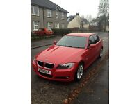 RED BMW 3 SERIES, 2 LTR PETROL, 6 MONTHS TAX, MOT MAY 2017