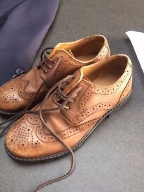 Boys Marks & Spencer Autograph Leather Brogues Size 1