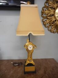 Dale Tiffany Inc. Antiques Roadshow Signature Art Deco Lady Clock Lamp Lot 5