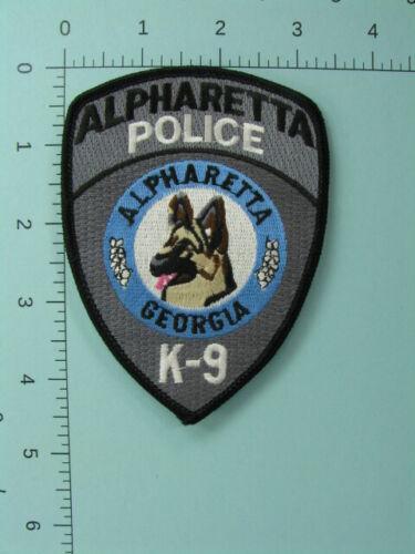 713 Georgia Fulton County ALPHARETTA K-9 POLICE Patch