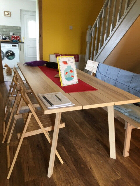 Ypperlig Dining Table And Industriell Bench As New In