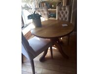 Dining table, (small) seats four, oak