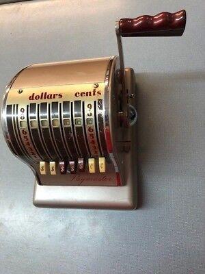 Vintage Paymaster Check Imprinting Machine 3108540 7 Column Series S-600