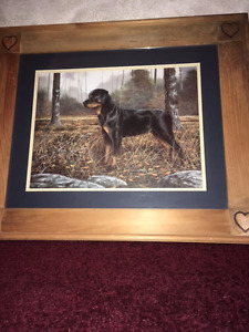 Rottweiler Picture in Wooden Frame