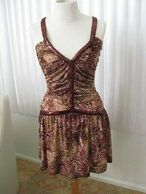 Rampage Juniors Teen Dresses Size M Medium Burgundy Prom Gown Baby Doll Girls