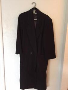 J Crew black for the business man, wool long winter jacket