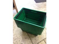 Fruit and Veg Green Baskets Trays for Sale