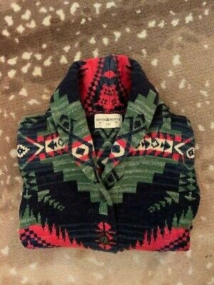 Ralph Lauren Denim Supply Western Aztec Shawl Blanket Southwest Sweater Very RRL