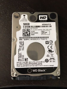 "Western Digital Black Laptop 500GB Hard Drive 2.5"" WD WD5000LPLX"
