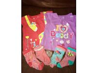 6-12 months baby girls summer / autumn clothing bundle