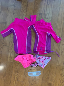 Tribord sunguard UV swim suit combination 3T-4T