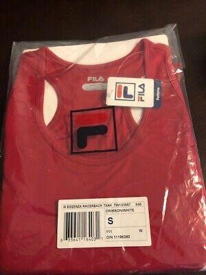 190ad491761 Fila Womens Essenza Racerback Tank (red) Crimson White Size Small NWT new