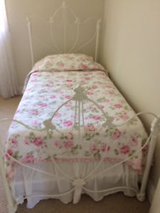 Pair of Single Twin Rod iron beds