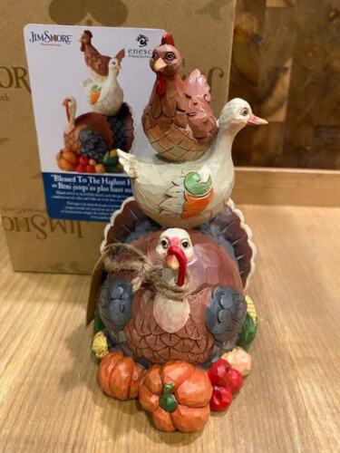 Jim Shore HWC Stacked Turduchen Turkey Duck Hen Harvest #6006695 New for 2021