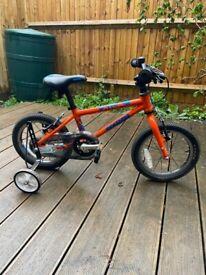 Squish 14 inch Kids Bike Orange - Mint condition / less than 12mths old - £90!!