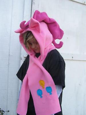 My Little Pony Custom plush Hoodie Scarf  - My Little Pony Pinkie Pie Hoodie