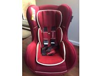 Mothercare Madrid car seat in red. Excellent condition.