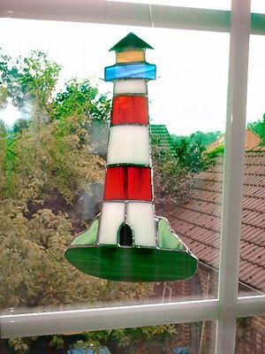 "TIFF. -  Fensterbild  Leuchtturm  ""Handarbeit"" edel"