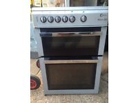 £123.50 Milano grey/Black ceramic electric cooker+60cm+60cm+3 months warranty for £123.50