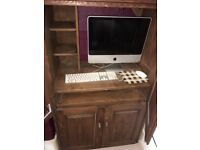 Solid Wood Computer Office Work Station Desk