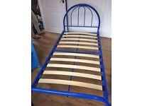 Blue Single Bed Frame
