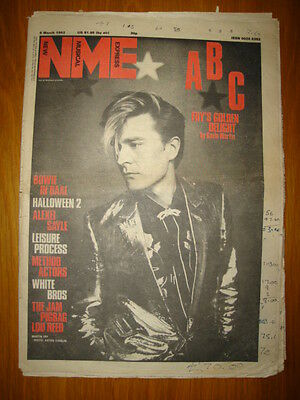 Nme 1982 Mar 6 Abc Fry David Bowie Jam Lou Reed Pigbag
