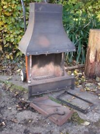 Rayburn Rembrandt 18 inch Cast iron fire grate with hood.