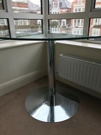 Round glass top dining table by Heal's - £125