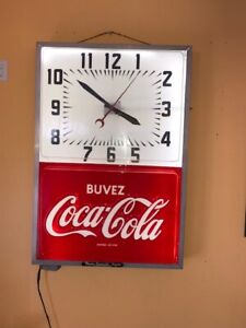 vintage horloge coke coca cola fonctionnel