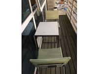 Ikea Patio Table and two Chairs