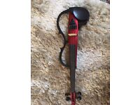 Yamaha Silent / electric violin red