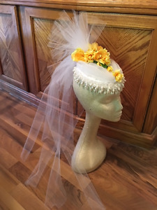 Bridal Wedding Fascinator Hat Veil Victorian Tea