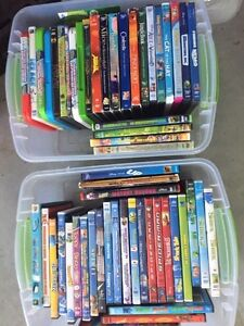 Approx 60 kids DVD's including the dreaded Frozen, Paddington