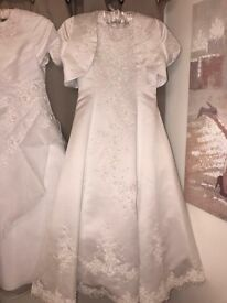 Designer First Communion/flower girl's dress age 9