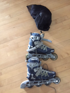Woman's Roller Blades with  Protective Gear