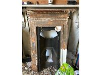 old cast iron fireplace