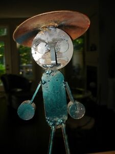 STEEL ART SCULPTURE just too funny!! artist made WHIMSY Cambridge Kitchener Area image 3