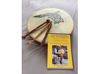 "Bodhran 14"" - Malachy Kearns - natural goatskin head plus accessories"