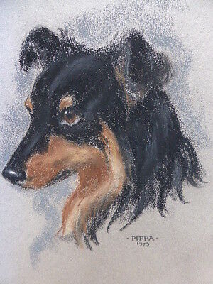 PASTEL  PIPPA  LISTED ARTIST ANGELA HARVEY KELLY  FREE SHIPPING  TO ENGLAND